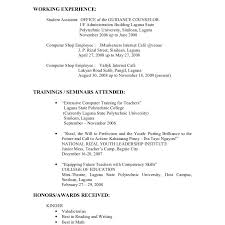 very attractive example of resume for a job examples and samples