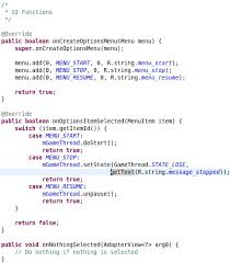 android oncreateoptionsmenu android development tutorial part iii karsten s space