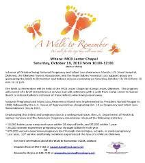 reminder for the walk to remember and u s naval hospital