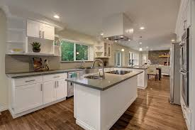 Armstrong Kitchen Cabinets Contemporary Kitchen With French Doors U0026 Pendant Light In Vashon