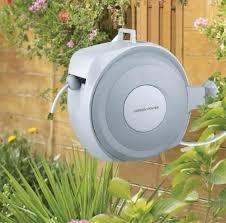 wall mounted garden hose reels stainless steel wall mount garden