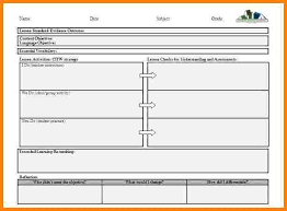 elementary lesson plan template weekly lesson plan templates