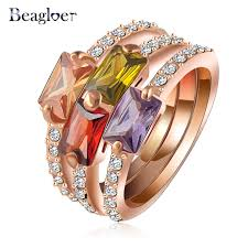 aliexpress buy beagloer new arrival ring gold beagloer brand new arrival combination ring gold color 3