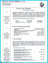 Teaching Resumes Art Teacher Resumes Template Examples