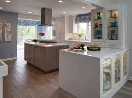 Kitchen Hood Island by Furniture Decorate Kitchen With Waterfall Countertop And Kitchen
