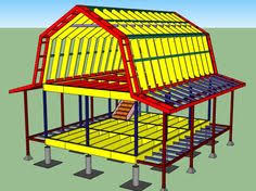 Two Story Barn Plans Construction Specifications On A 2 Story Gambrel Barn From Pine