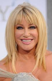 medium layered hairstyle for women over 60 blonde haircut for women over 60 suzanne somers hairstyles