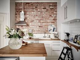 kitchen wall design kitchen with brick wall exposed furniture picture exquisite white