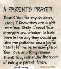 prayer practices for parents