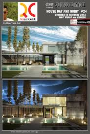 Free House Projects Free Sketchup 3d Model Modern House Version Day U0026 Version