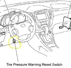 2007 toyota camry tire pressure light reset the tire warning light came on checked the manual said to pump up