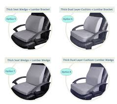 Auto Seat Riser Cushion Memory Foam Extra Thick Seat Cushion Lumbar Back Support Comfort