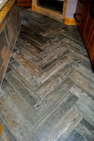 engaging gray floor tile that looks like wood for picturesque and