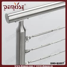Banister Fittings No Welding Stainless Steel Cable End Fittings For Outdoor Balcony