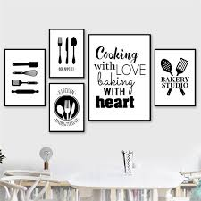 black and white prints for kitchen 2021 black white cooking with kitchen quote wall