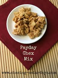 chasing saturdays payday chex mix