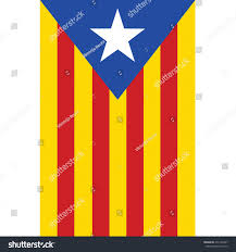 Blue White And Red Flags Catalonia Flag Vector Isolated Red Yellow Stock Vector 276145397