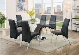 furniture of america svana black dining room table set cm3382t