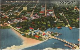 Panama City Florida Map by Aerial View Water Front Panama City Florida Digital Commonwealth