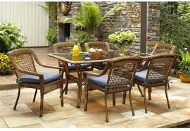white wicker kitchen table wicker kitchen chairs wicker outdoor patio dining set w sky blue