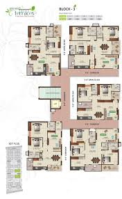 cluster home floor plans mahanagar homes pvt ltd green terraces block 3 cluster plan from