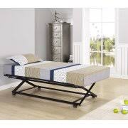 Daybed With Headboard by Twin Size Black Metal Day Bed Frame With Pop Up High Riser Trundle