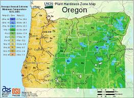 map of oregon 2 usda hardiness map oregon oregon state univ landscape plants