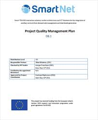 8 quality management plan templates free sample example format
