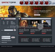 free templates css templates games gametopia