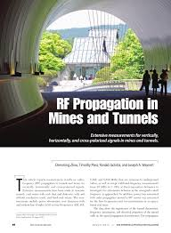 signal ique bureau rf propagation in mines and tunnels pdf available