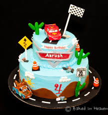cars themed cake baked in heaven