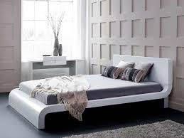 bedroom marvelous white or black modern faux leather double full