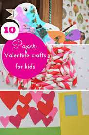 10 pretty paper valentine crafts for kids