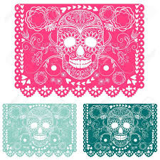 day of the dead decorations day of the dead decoration papel picado royalty free cliparts