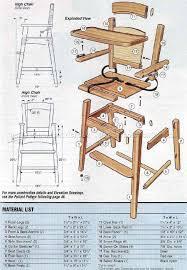 wooden high chair plans children u0027s furniture plans diversos 2