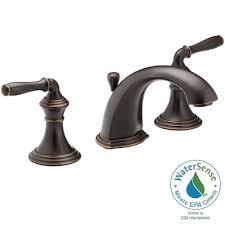 Polished Brass Bathroom Faucets Widespread Kohler Devonshire 8 In Widespread 2 Handle Low Arc Bathroom