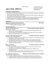 Nurse Resumes Templates Nursing Resume Free Nurse Examples Sample Download Template 01