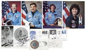 kathryn sullivan lot detail lot of 9 astronaut signed photos with buzz aldrin