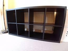ikea shelving unit kallax in dark brown 147x77x39cm in chertsey