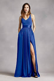 royal blue chiffon bridesmaid dresses royal blue bridesmaid dresses david s bridal