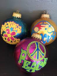 by krebs retro 70 s flower power peace sign glass