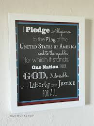 I Pledge Of Allegiance To The Flag Pledge Of Allegiance Free Printable Over The Big Moon
