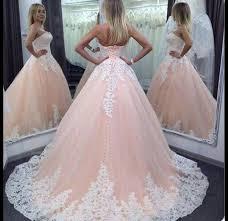 rosa brautkleid kleider vintage rosa tüll spitze trägerlos hochzeitskleid ein