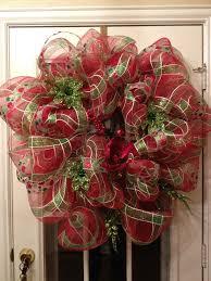 mesh ribbon ideas christmas bowsplotion christmas wreaths on