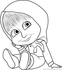 baby masha coloring page free masha and the bear coloring pages