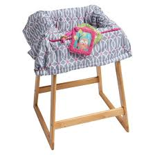 chair cover boppy park gate shopping cart and high chair cover pink target