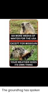 six more weeks of winter for the usa except for missouri your