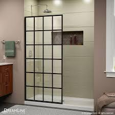 dreamline dreamline french linea frameless shower door 34 in x 72