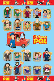 postman pat characters poster sold abposters