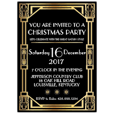 gatsby invitations gatsby classic deco christmas party invitations paperstyle